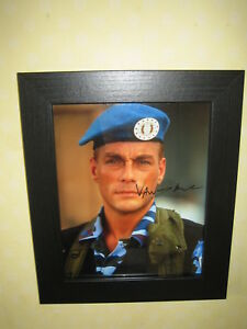 Jean Claud Van Damme Signed Photo (8x10) Framed with CofA