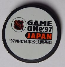 1997 Game One Gapan MIghty Ducks / Vancouver Canucks Souvenir Hockey Puck