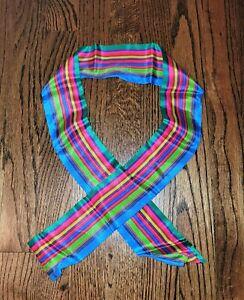 Liz Claiborne Made in Japan 100% Silk Japanese Hachimaki Headband Martial Arts