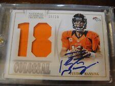 2013 Panini National Treasures Football Peyton Manning Auto Material Card 10 /25