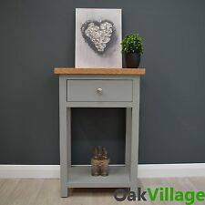 Grey Painted Small Console Table Oak / Hallway / Solid Wood / Telephone Greymore