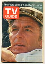 TV GUIDE MAGAZINE 1970 JAN 9-15 ANDY GRIFFITH DETROIT EDITION (FAIR/GOOD COND.)