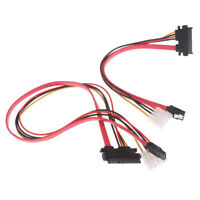 7+15 22pin SATA to ESATA Port 4Pin Power Interface Cable Hard Drive Disk Cable