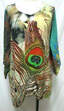 Silk Threads Art  00004000 To Wear Tunic Top Blouse Beaded Size Medium Md M