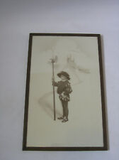 1916 photo of boy dressed up in Tudor costume with halberd Yeoman of the Guard