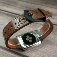 Designer Apple watch band strap for series 1 2 3 4 5 | G | Brown