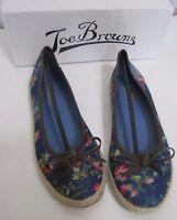 New Joe Browns Floral Canvas Pumps Shoes Espadrilles – Uk Size 4 – 7