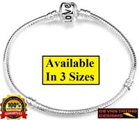 925 Sterling Silver Snake Bracelet Snake Chain Fits Big Hole Bead +GiftPackage