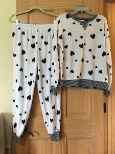 NWT Women's Secret Treasures Pajamas Set Top/Pants sz S, M Heart super soft