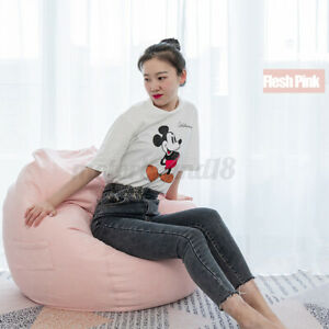 Bean Bag Chairs Couch Sofa Indoor Lazy Lounger Adult Gaming Sofa W/ Fillings
