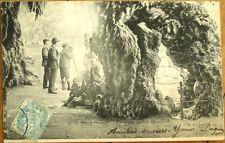 Photographer Setting up Camera in Grotto - 1905 Postcard, Bois de Vincennes