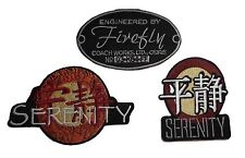 Serenity/ Firefly Set of 3 Logo Embroidered Movie Patches