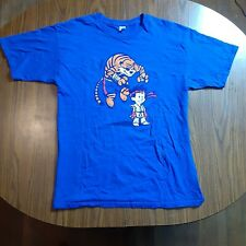 Mens Calvin And Hobbes Street Fighter T-shirt Blue Size Large