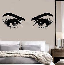 Vinyl Wall Decal Woman Eyes Beauty Salon Girl Room Makeup Stickers (ig3648)