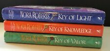 Lot 3 Complete Key Trilogy Nora Roberts Hardcover VG Condition Ship Fast