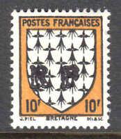FRANCE 461 LOCAL BOURGUEI LIBERATION OVERPRINT OG NH U/M VF