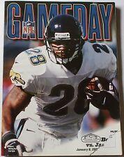 2002 Chicago Bears vs. Jacksonville Jaguars Program Fred Taylor Cover