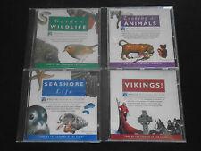 New Vikings,Garden Wildlife,Seashore Life & Looking at Animals CDs Acorn RISC OS