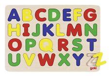 Einlegepuzzle Alphabet 26-teilig GK601  Goki Legepuzzle Holz Lernspielzeug -