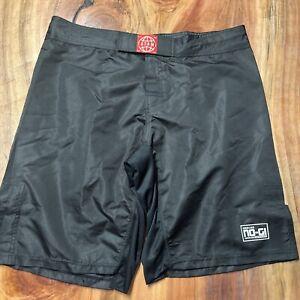 TATAMI Men's 100% Nylon 2XL XXL BLACK Grappling Boxing Shorts  A3-9