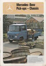 Mercedes Benz L407D, L409, L508D & L608D Pick-ups Brochure - 1981