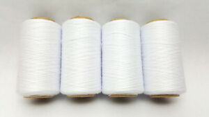 WHITE SPUN POLYESTER THREAD - QUILTING SERGER SEWING THREAD 4000 YARDS T27 #651