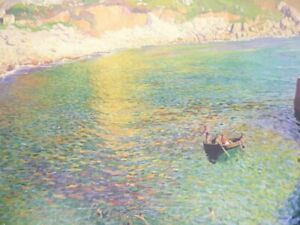 LAMORNA COVE- LAURA KNIGHT - IN IVORY MOUNT 12 x 10 PERFECT