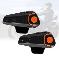 2 x 1000m BT-S2 Motorrad Helm Gegensprechanlage Sprechanlag Bluetooth Headset
