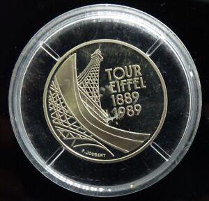 5 francs Tour Eiffel 1989 BE argent AVEC CAPSULES D ORIGINE 17,22 GRAMMES BRUT