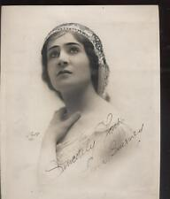 VINTAGE PHOTO EARLY 1900'S AUTOGRAPHED  Leona Guerney, the Siberian song bird;