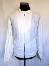 Ralph Lauren Polo Jacke Blouson Sommerjacke Weiß Unifarben Gr. XL
