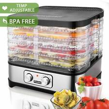 5 Stackable Trays Electric Food Dehydrator Machine Fruit Dryer Beef Meat