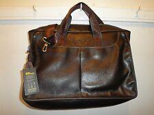 BOSTANTEN Leather Briefcase Laptop Case Handbag Business Bags for Men Brown
