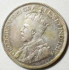CANADA : 25 CENTS ARGENT 1920