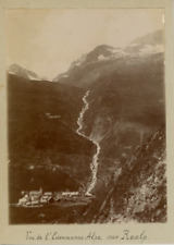 Suisse, Vue de l'Eisenmann Alpe sur Realp  Vintage citrate print.  Tirage