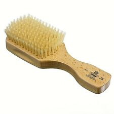 SATINWOOD WHITE BRISTLE RECTANGULAR/CLUB HAIR BRUSH KENT BRUSHES HANDMADE ROYAL