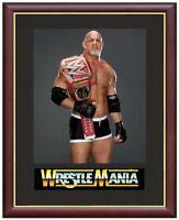 Bill Goldberg Wrestling Legend Mounted & Framed & Glazed Memorabilia Gift
