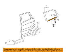 Acura HONDA OEM 07-12 RDX Rear-Window Sweep Belt Felt Molding Right 72910STKA01