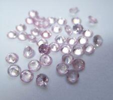 3 synthetische Steine 3,0 mm Tourmalin-Rosa  rund, Corundum, Mohshärte 9,0 #C1,5