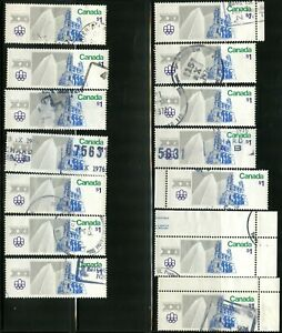 Canada #687 14 used $1 stamps Olympic Sites F - VF