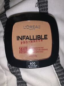 L'Oreal Paris Infallible Pro-Matte Oil Free Pressed Powder 600 Golden Beige