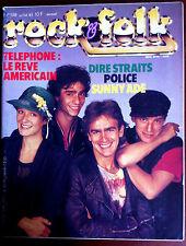 ROCK & FOLK n°198 du 07/1983; Téléphone réve US/ Dire Straits/ Police/ Sunny Adé