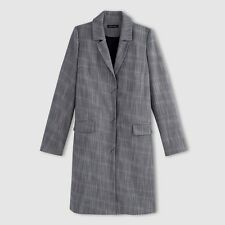 LA REDOUTE LADIES TWEED EFFECT COAT NAVY SIZE 12 NEW (ref 395) SALE