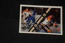 KEN HODGE & ED WESTFALL 1992 ULTIMATE SIGNED AUTOGRAPHED CARD #4 BRUINS