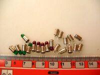 20 x MS4 Steckbirnen 19 V für Märklin Zubehör rot+grün+klar #LA1+4