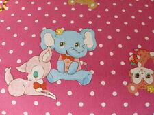 Kawaii Style Bear, Elephant, Deer, Skunk by Kokka 100% Cotton Fabric FQ