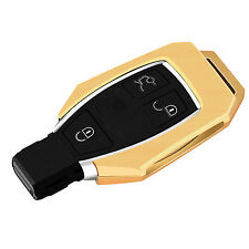 Gold Aluminium Metal Car Smart Remote Key Cover Case Fob Shell For Mercedes Benz