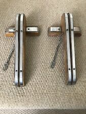 Vintage Pair Of Fairground / Funfair Wooden Penny Coin Chute Rollers