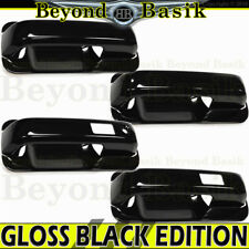 2017-2019 FORD F250 350 Crew Cab GLOSS BLACK Door Handle COVERS W/SmartKey+Bowls