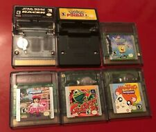 Lot of 6 Working Nintendo GameBoy Color Games *Star Wars, Pokemon, Spongebob++*